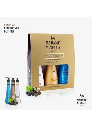 Madame Minella Kuru Ve Yıpranmış Saç Bakım Şampuan 250 Ml+Duş Jeli 250 Ml+ Saç Kremi 250 Ml Renksiz